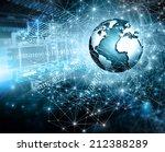 best internet concept of global ... | Shutterstock . vector #212388289