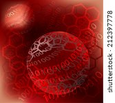 red hexagon abstract for ... | Shutterstock . vector #212397778
