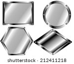 a set of metal plates of...