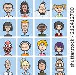 illustration of humor cartoon... | Shutterstock . vector #212412700