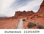 Scenic Path In Valley Of Fire...