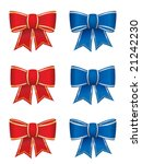 set of six bows | Shutterstock .eps vector #21242230