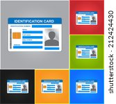 identification card isolated on ... | Shutterstock .eps vector #212424430