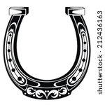 Stock vector horseshoe 212436163
