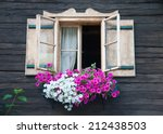 Window Of A Wooden Hut...
