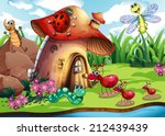 Illustration Of Many Insects B...