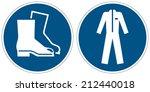 wear safety footwear  wear... | Shutterstock .eps vector #212440018