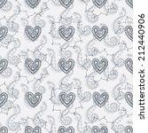 seamless mehendi love pattern | Shutterstock .eps vector #212440906