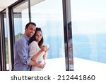 romantic happy young couple... | Shutterstock . vector #212441860
