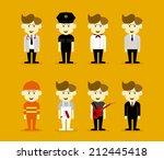 man career | Shutterstock .eps vector #212445418