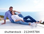 romantic happy young couple... | Shutterstock . vector #212445784