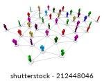 business human social network... | Shutterstock . vector #212448046