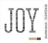 joy typography with aztec... | Shutterstock .eps vector #212452618