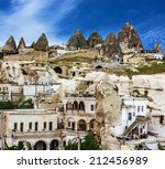 goreme town   cave hotel in... | Shutterstock . vector #212456989