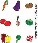 vegetables set | Shutterstock .eps vector #212457130