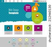 flat web design  elements ...