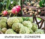 collage of thai fruit | Shutterstock . vector #212460298
