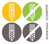 wheat and gluten free signs...   Shutterstock .eps vector #212469559