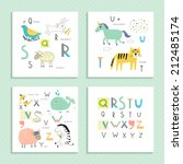 cute zoo alphabet in vector .... | Shutterstock .eps vector #212485174