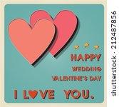 vintage metal heart sign   3d... | Shutterstock .eps vector #212487856