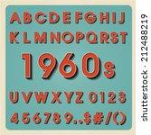 vintage alphabet. retro type... | Shutterstock .eps vector #212488219