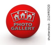 photo gallery circular icon on... | Shutterstock . vector #212490520