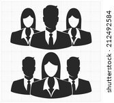 people icon  group of business... | Shutterstock .eps vector #212492584