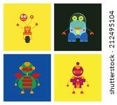 vector set of different cute... | Shutterstock .eps vector #212495104