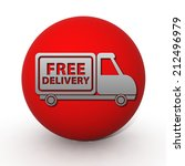 free delivery circular icon on...   Shutterstock . vector #212496979