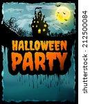 happy halloween party poster.... | Shutterstock .eps vector #212500084
