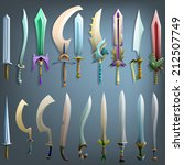 vector swords set   vector... | Shutterstock .eps vector #212507749