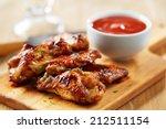 chicken wings with sriracha... | Shutterstock . vector #212511154