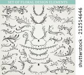 collection of floral design... | Shutterstock .eps vector #212514646
