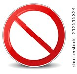 illustration of prohibited sign  | Shutterstock .eps vector #212515324