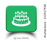 pictograph of cake | Shutterstock .eps vector #212517928