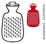 hot water bottle  bag  | Shutterstock .eps vector #212525413
