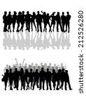 people silhouettes set | Shutterstock .eps vector #212526280