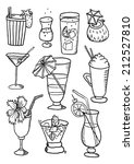 hand drawn collection of... | Shutterstock .eps vector #212527810