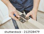 close up carpenter process of... | Shutterstock . vector #212528479