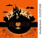 halloween. hand drawn vector... | Shutterstock .eps vector #212529100