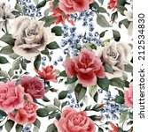 seamless floral pattern with... | Shutterstock . vector #212534830