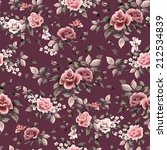 seamless floral pattern with... | Shutterstock . vector #212534839
