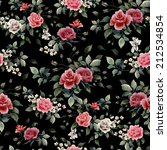 seamless floral pattern with... | Shutterstock . vector #212534854