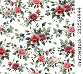 seamless floral pattern with... | Shutterstock . vector #212534944