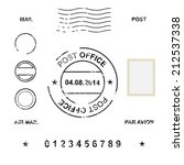 set of post stamp symbols ... | Shutterstock .eps vector #212537338