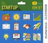 business startup flat long... | Shutterstock .eps vector #212540008