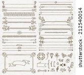 vintage hand drawn design... | Shutterstock .eps vector #212540014