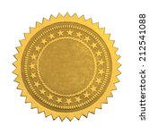 gold star seal with stars and... | Shutterstock . vector #212541088
