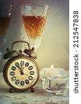 vintage bronze alarm clock   Shutterstock . vector #212547838