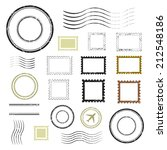 set of postal stamps and... | Shutterstock .eps vector #212548186